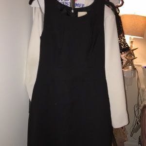 J crew black suiting dress